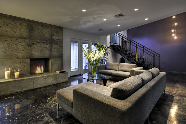 Full interior remodel contemporary-basement