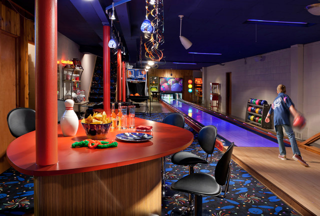 Game Room Eclectic Basement Milwaukee By Edmunds
