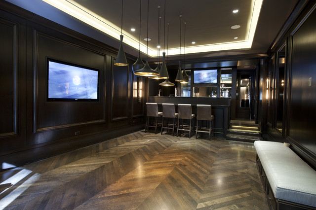 Game Room contemporary-basement