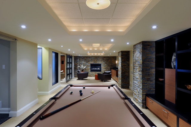 Games Room Contemporary Basement Ottawa By Southam