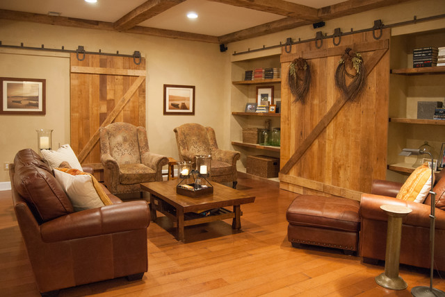 traditional basement by Adrienne DeRosa