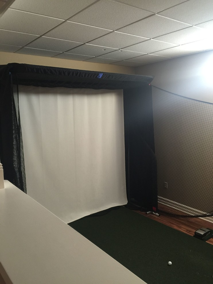 Golf Simulator - Traditional - Basement - New York - by ...