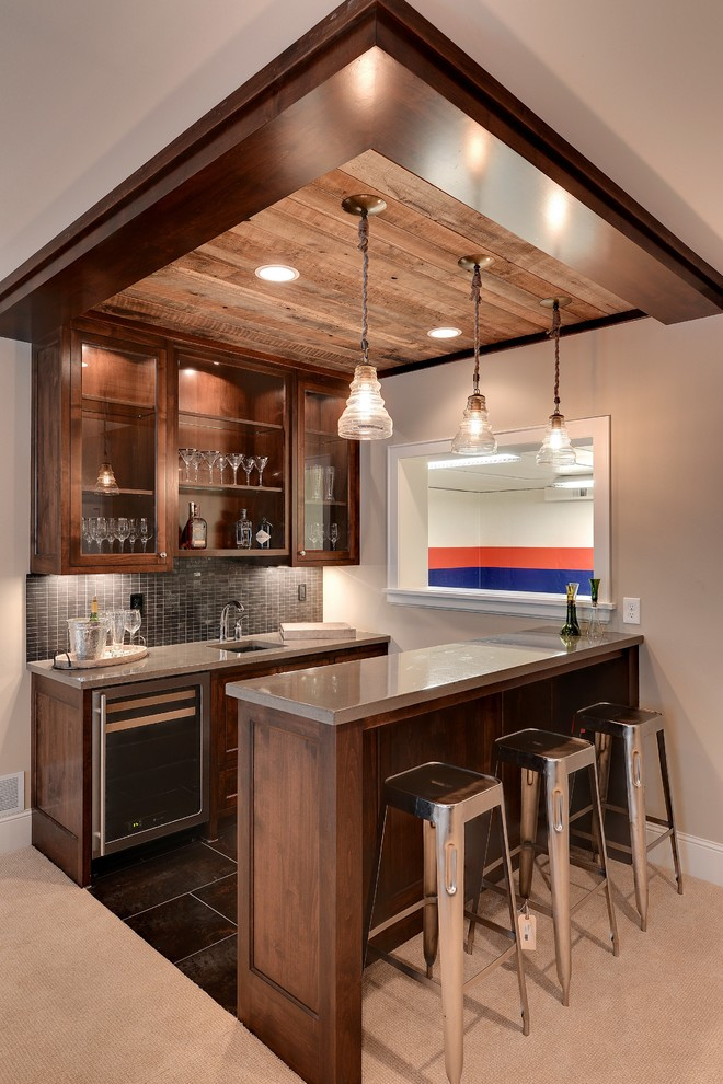 Example of a classic basement design in Minneapolis