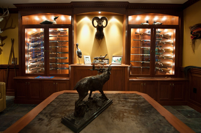 Gun Room - Traditional - Basement - toronto - by Cambridge ...