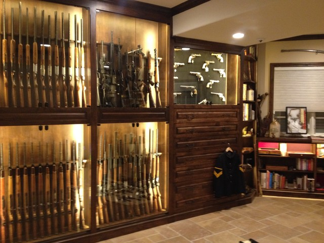 Gun room traditional basement denver by enoch choi for How to build a gun safe room