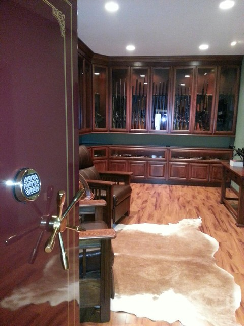 Gun room traditional basement st louis by k build for Walk in safes for homes