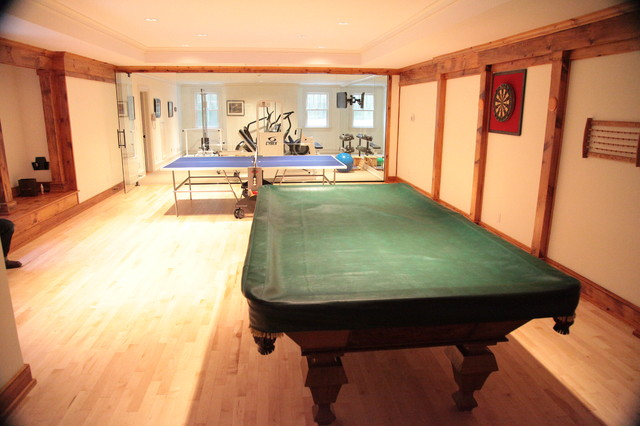Gym game room contemporary basement new york by Basement game room ideas