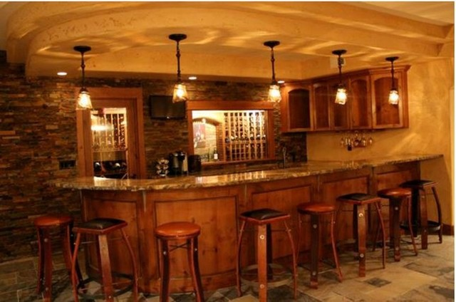 Hamann custom basement design finish traditional basement denver by basement finishing - Basements by design ...
