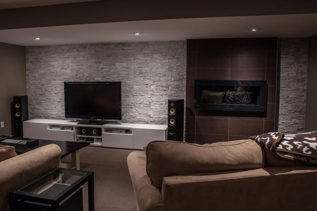 hansen modern basement toronto by allen interiors