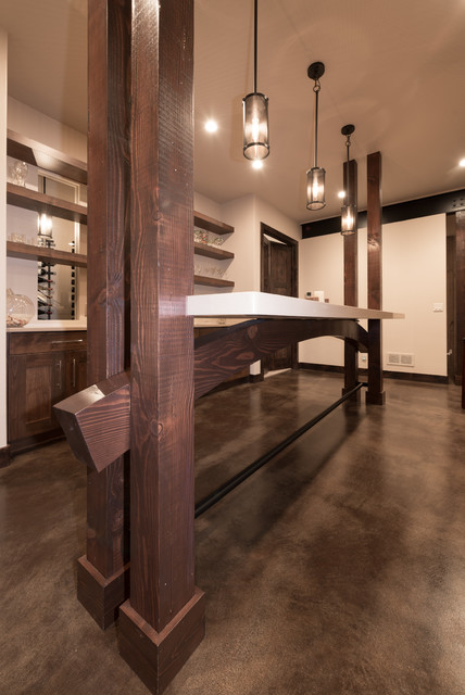 Harmony iii craftsman basement denver by david for David hueter home designs