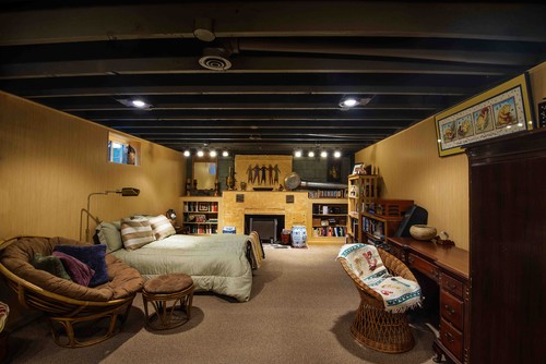 how to paint basement ceiling black