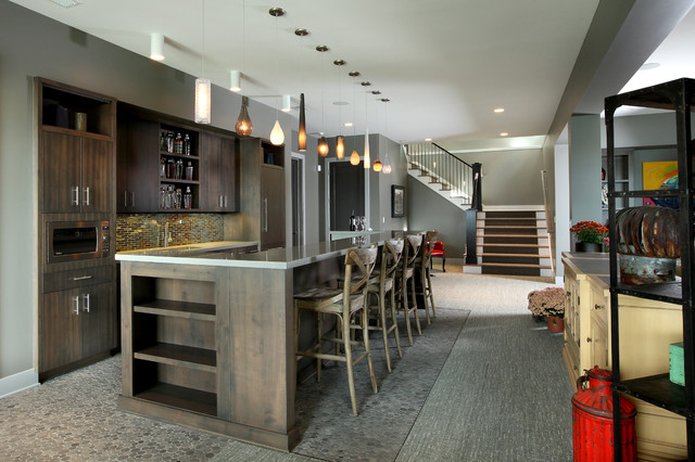 Hasserton Contemporary Basement Grand Rapids By