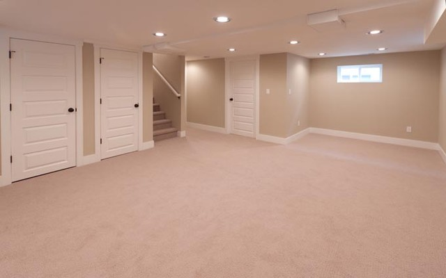 hawthorne house remodel traditional basement - Simple Basement Designs