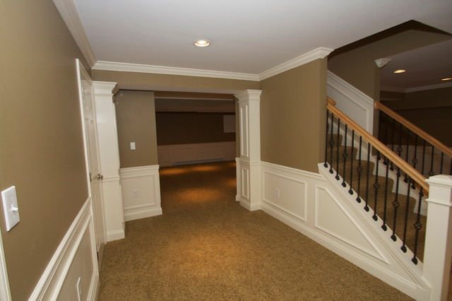 Hcc Basements Traditional Basement Philadelphia By Hammerhead Custom Carpentry Llc Of
