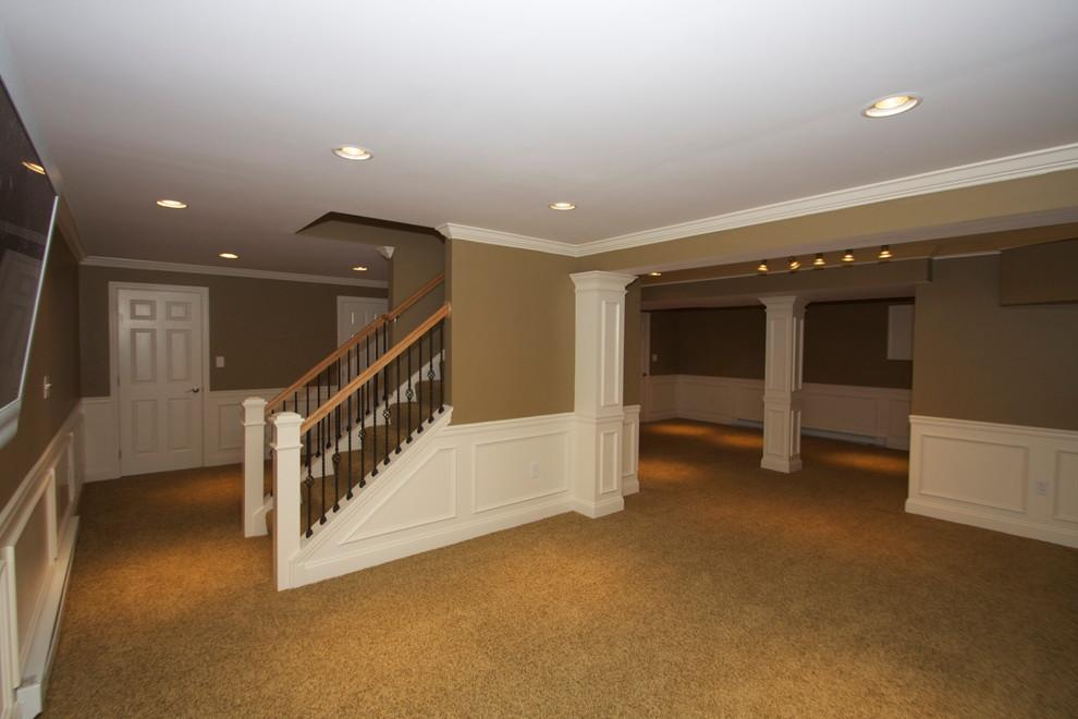 Example of a classic basement design in Philadelphia