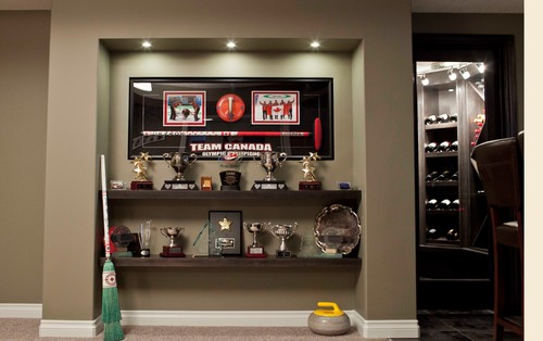 A Recessed Alcove Allows Trophies To Be Displayed Without Taking Up Any Floor Space In The Room