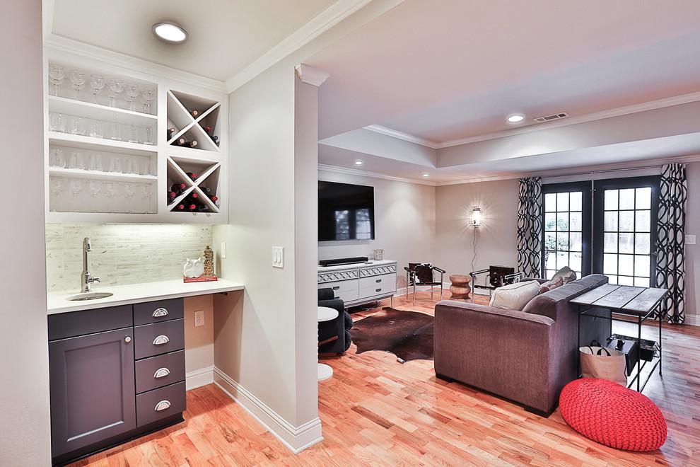 Inspiration for a transitional basement remodel in Atlanta