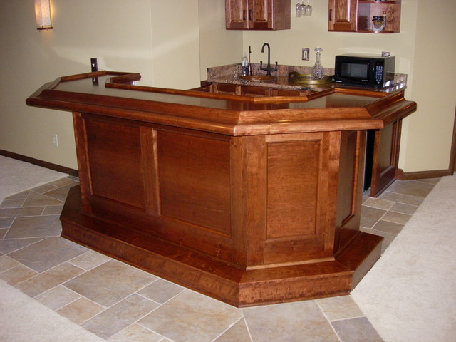 Hinckley ohio custom built home bar traditional basement cleveland by ohio basements - Custom bars for homes ...