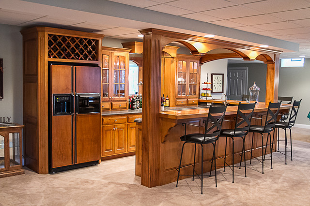 home bar area traditional basement cleveland by superior