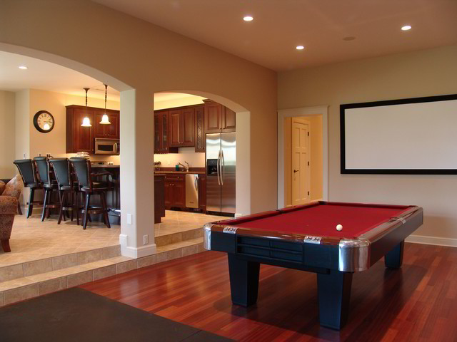 Home in the Reserve traditional-basement