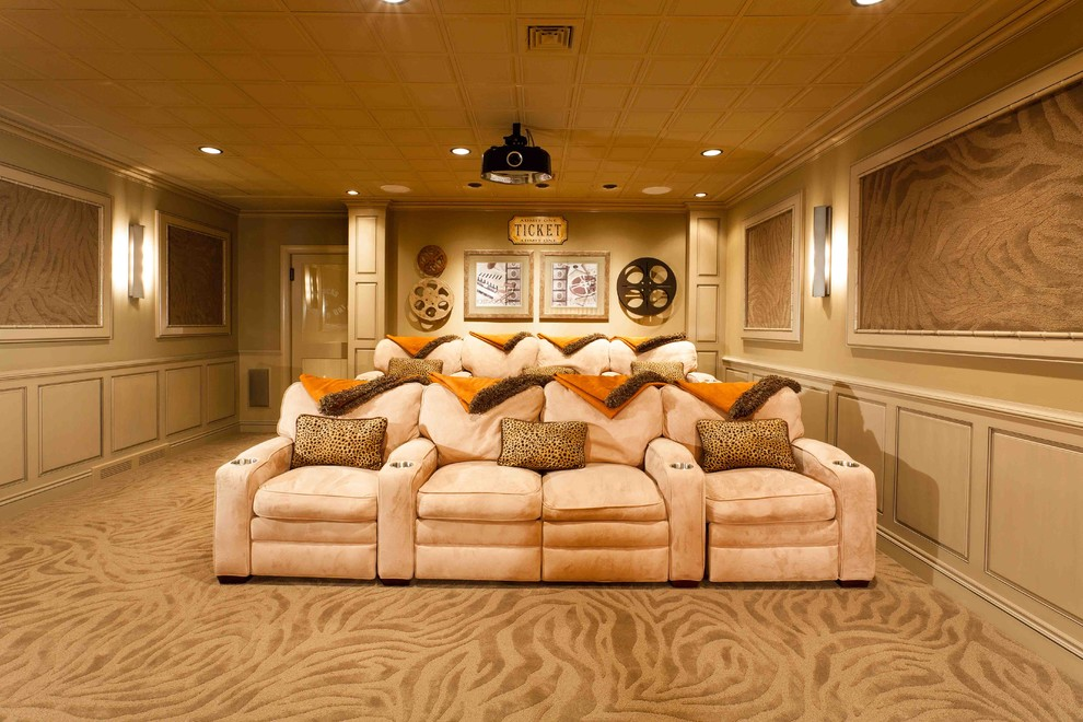 Inspiration for a transitional basement remodel in Other