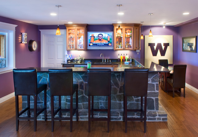 home sports bar contemporary basement seattle by