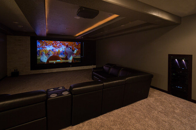 Theater Room Spring 2014 - Modern - Basement - Other - by Custom Cinema & Sound