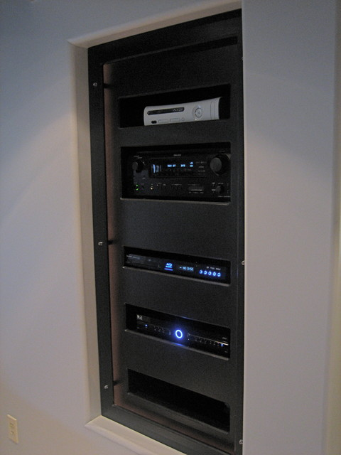 Home Theater Rack - Modern - Basement - Cleveland - by Man Caves Audio Video