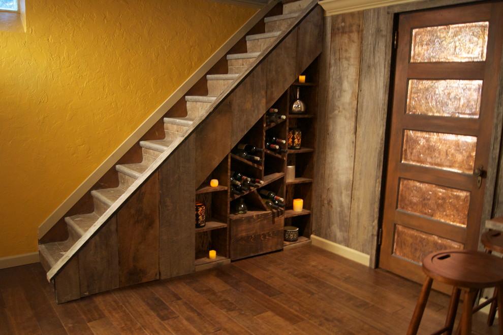 Basement - eclectic basement idea in Cleveland