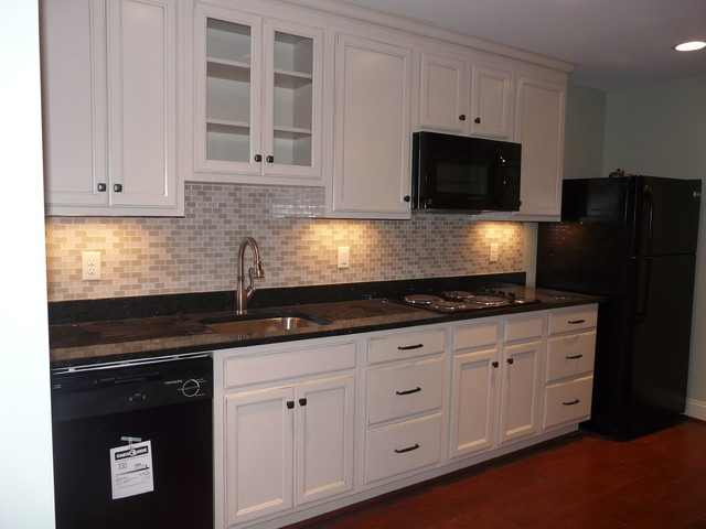 In Law Suite- basement kitchen - Traditional - Basement ...