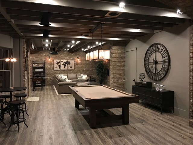 Industrial basement Man cave ideas unfinished basement