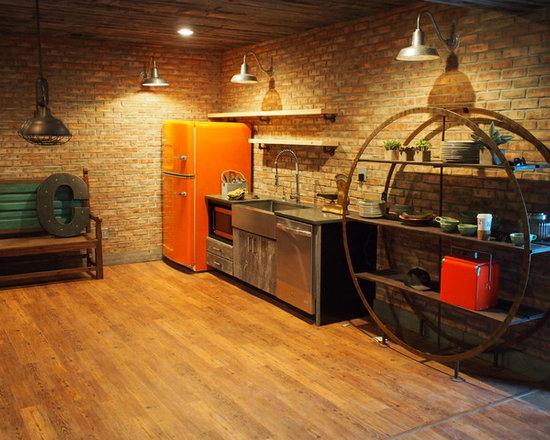 Industrial Basement Design Ideas, Pictures, Remodel & Decor