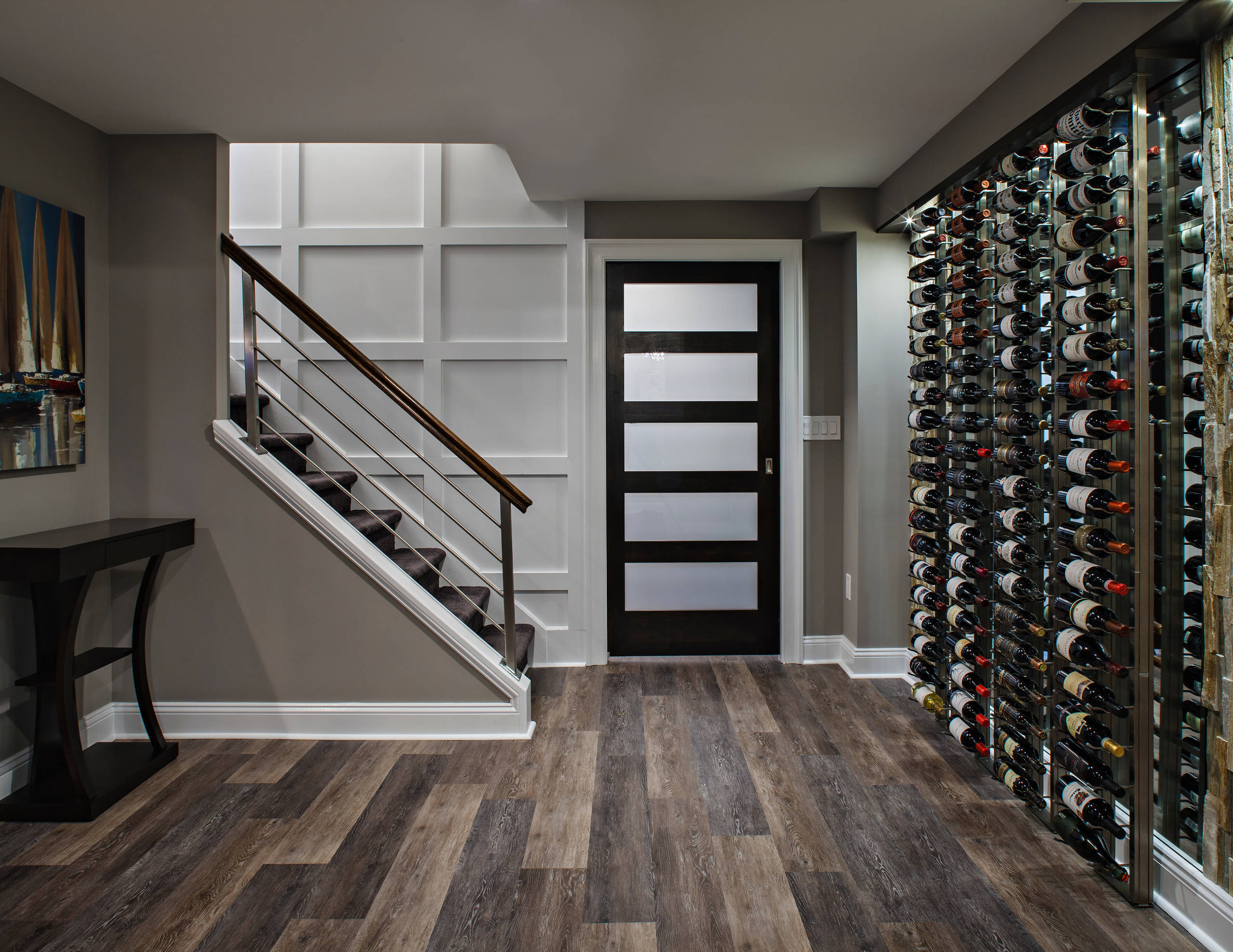 75 Beautiful Basement With Gray Walls Pictures Ideas October 2020 Houzz