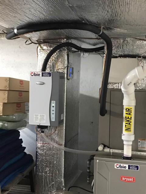 Installation Of A Hybrid System Gas Furnace With A Heat