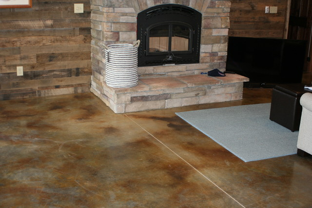 Interior Concrete Floors Modern Basement Other Metro By Carl Concrete