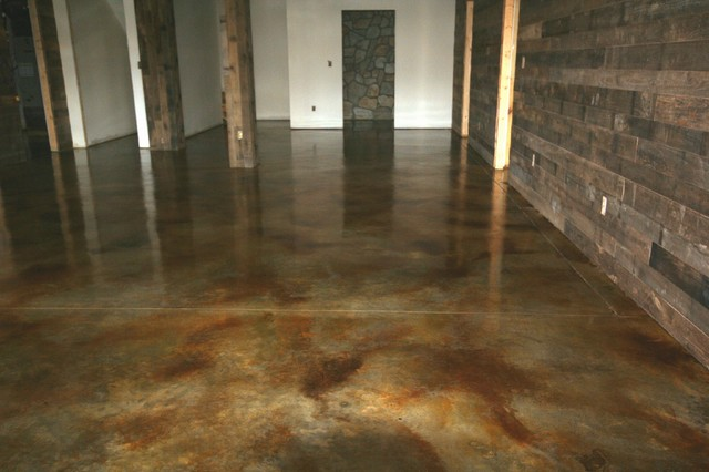 Interior Concrete Floors Modern Basement Other By