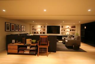 interior design contemporary basement burlington by interior works inc - Basement Interior Design