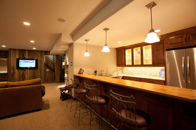 Interior Design traditional-basement