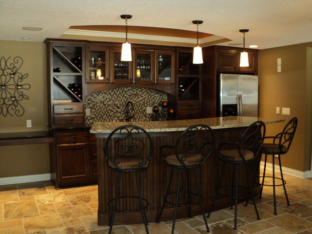 Interior design traditional basement other by the for Pictures of home bars in the basement