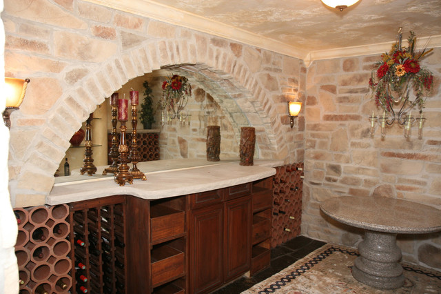 High Quality Interior Design With Stone Veneer Traditional Basement