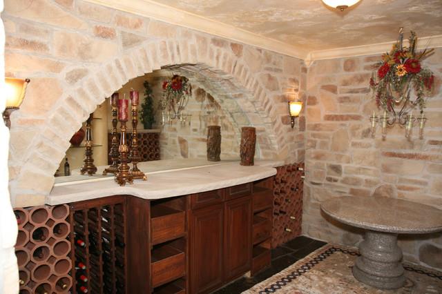 Interior design with stone veneer traditional basement for Stone veneer interior walls designs