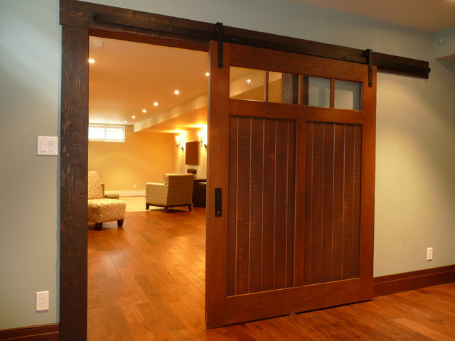 Interior sliding doors basement other metro by for Basement sliding doors
