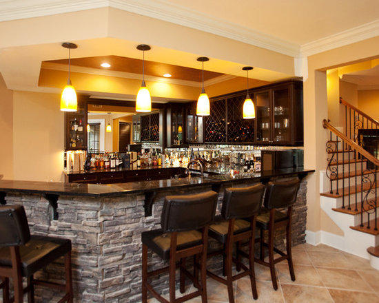 stone bar home design ideas pictures remodel and decor. Black Bedroom Furniture Sets. Home Design Ideas