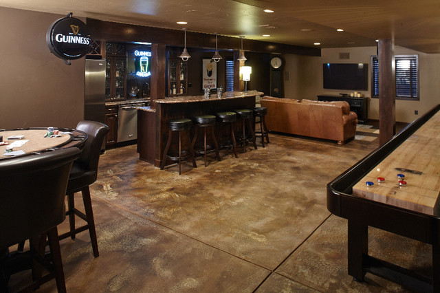 Shallow Pond Basement Denver By Highcraft Builders