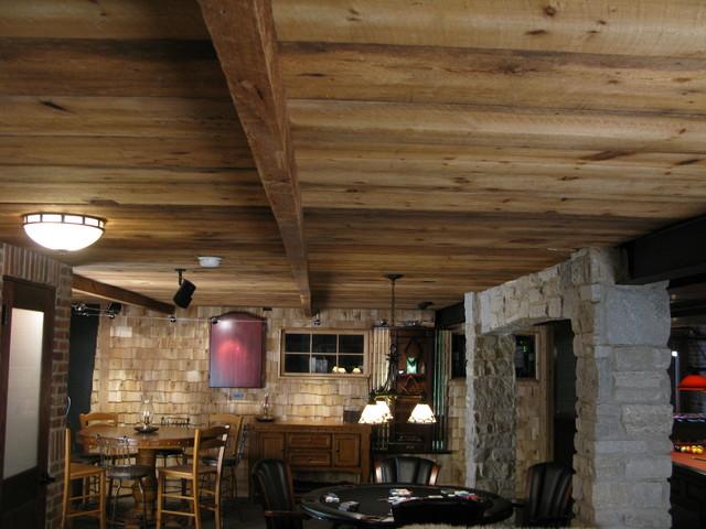 Irish Pub Man Cave Traditional Basement Chicago By
