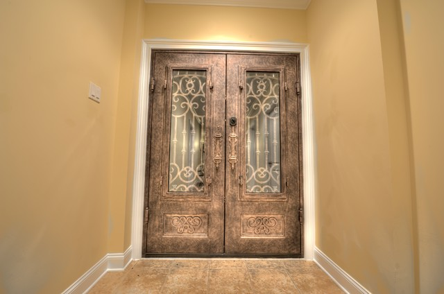 Iron door basement other metro by total custom homes for Basement double door