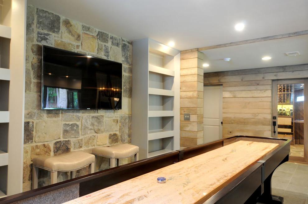 Example of a coastal basement design in Atlanta