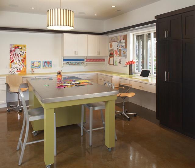 Contemporary Basement Design: Kid-Friendly Basement