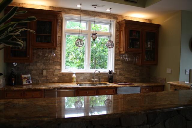 Kitchens traditional-basement
