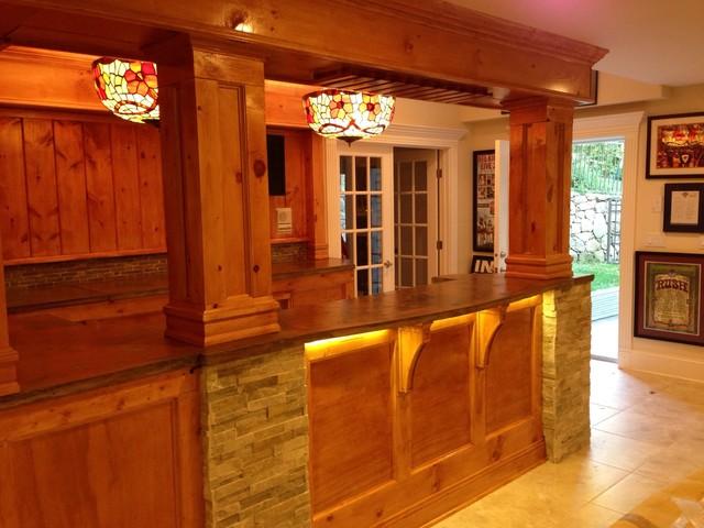 Knotty Pine Bar